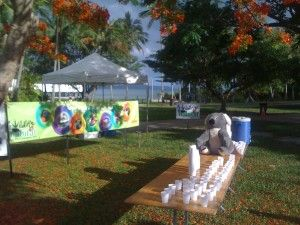Water Station at The Great Barrier Reef Marathon