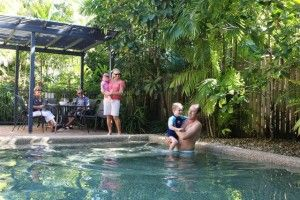 Poolside at Nautilus Apartments Port Douglas